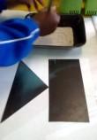 kopieer vorms in sand