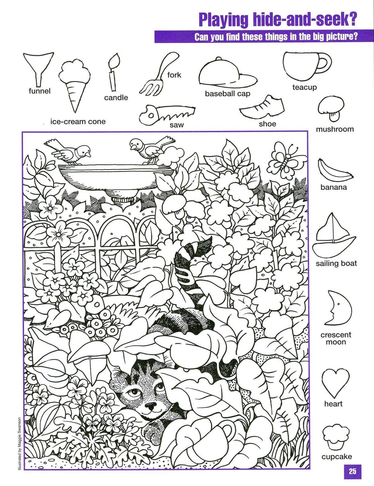 Objetos Escondidos Buscar Dibujos Ocultos Wwwimagenesmycom