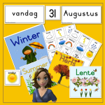 seasons seisoene kalender weerkaart